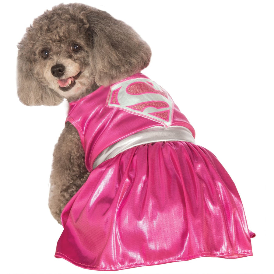 Cat & Dog Costume Pink Supergirl Lg - Dog Costume dog costumes Dog Halloween