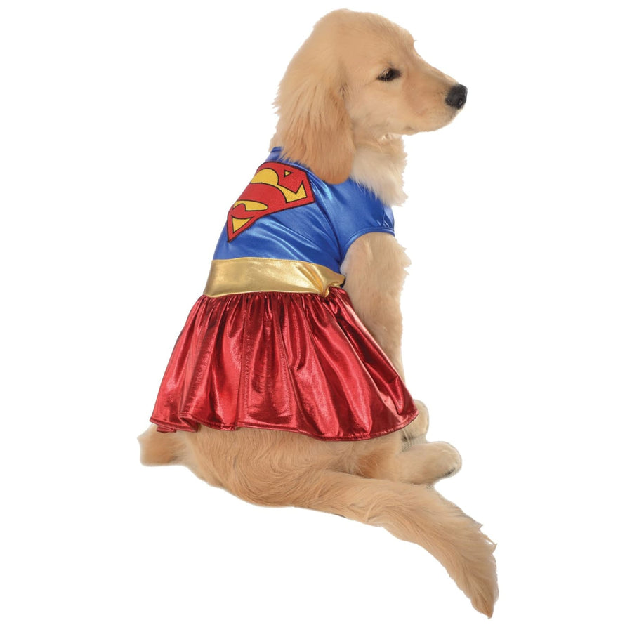 Cat & Dog Costume Supergirl Sm - Dog Costume dog costumes Dog Halloween Costume