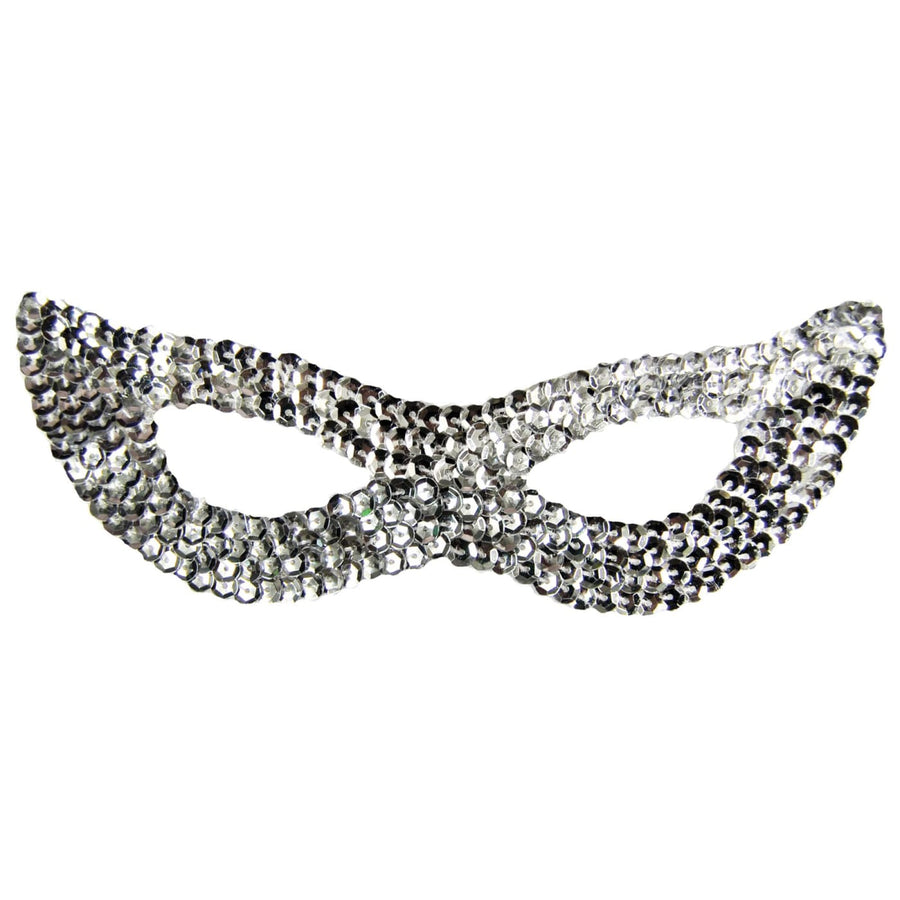 Cat Mask Sequin Silver - Cat Halloween Costume Costume Masks Halloween costumes