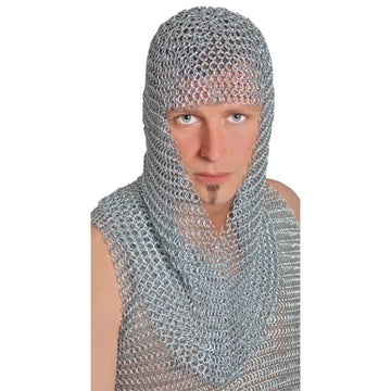 Chainmail Hood Adult Long - Halloween costumes Medieval & Renaissance Costume