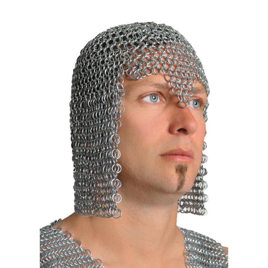 Chainmail Hood Adult Short - Halloween costumes Hats Tiaras & Headgear Medieval