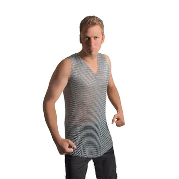 Chainmail Steel Adult Shirt - adult halloween costumes halloween costumes male