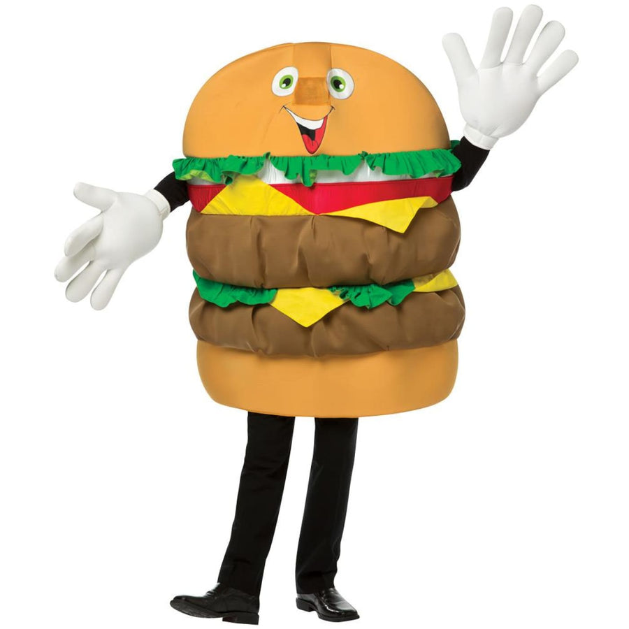 Cheeseburger Waver Adult Costume - adult halloween costumes Food & Drink Costume