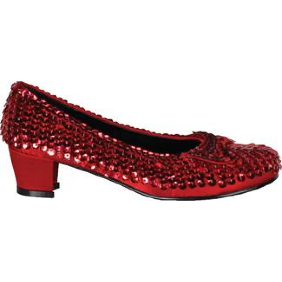Childs Red Sequin Shoes Sm - Halloween costumes Shoes & Boots Valentines Day