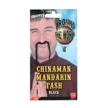 Chinese Mustache Black - Halloween costumes Hats Tiaras & Headgear Ninja &