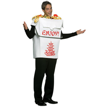 Chinese Take Out Adult Costume - adult halloween costumes Food & Drink Costume
