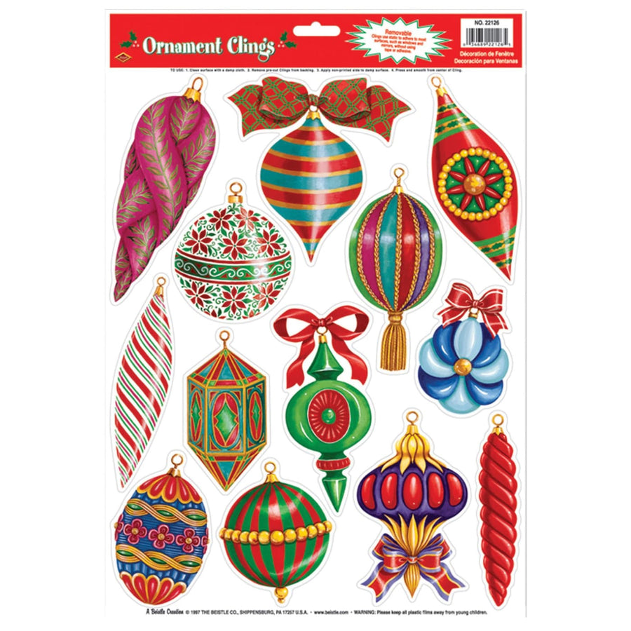 Christmas Ornament Clings - Decorations & Props Halloween costumes haunted house