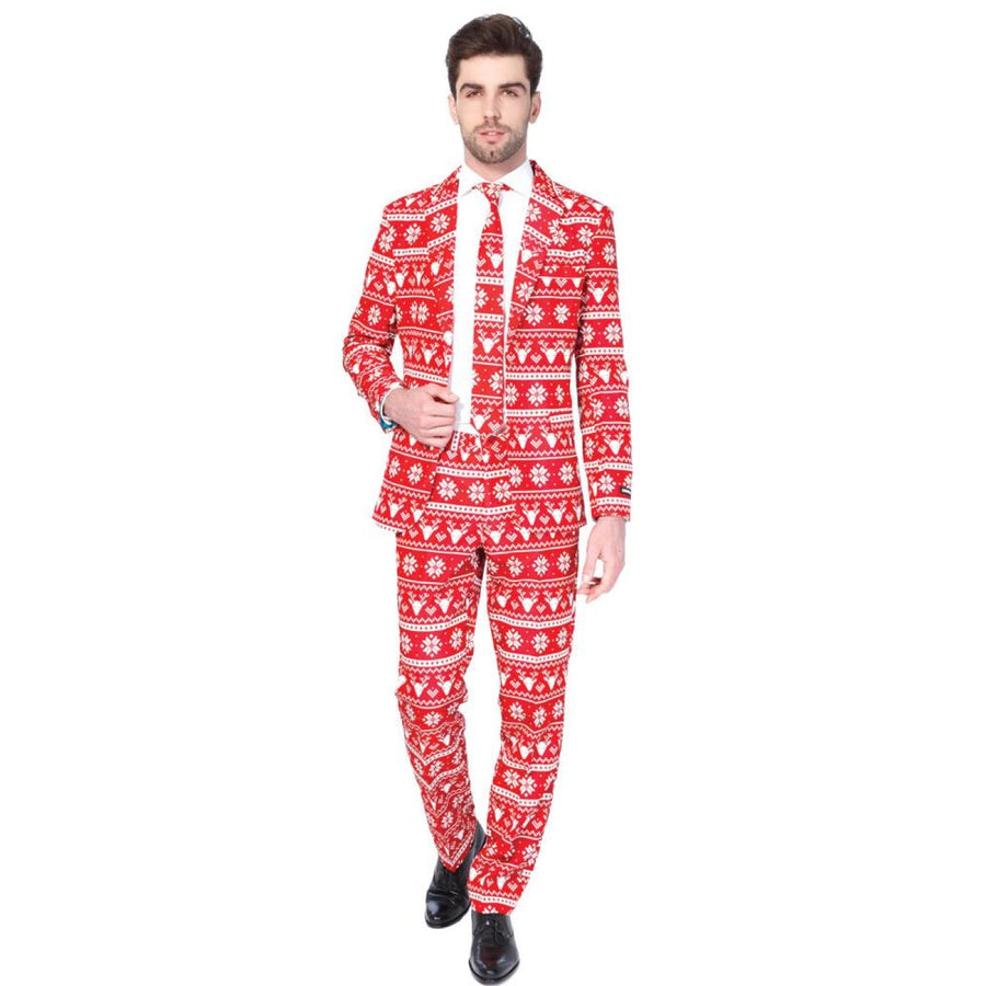 Christmas Red Mens Costume Suit Lg 42-44 - adult halloween costumes Christmas