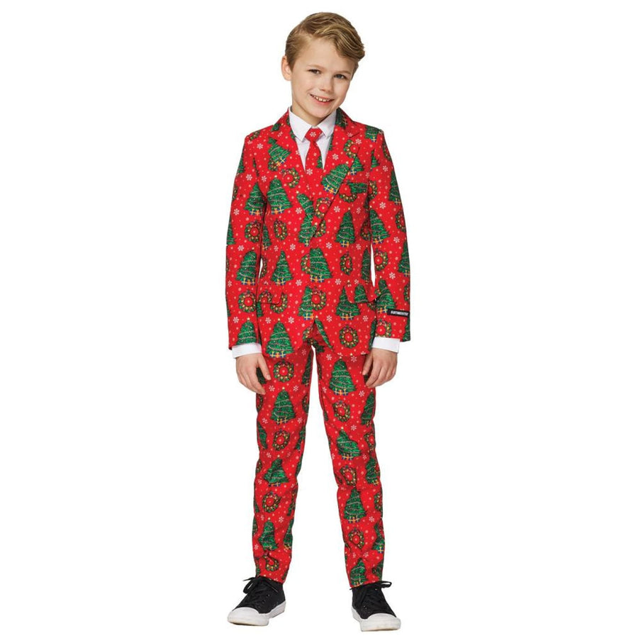 Christmas Red Suit Boys Costume Xl 14-16 - Boys Costumes Christmas Red Suit Boys