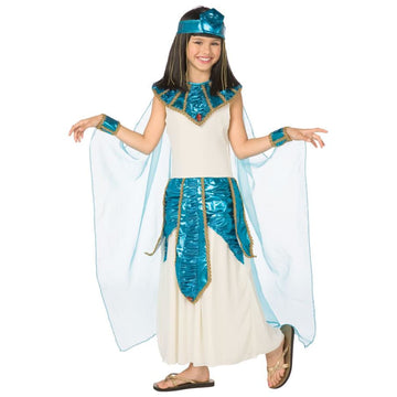 Cleopatra Blue Gold Child 12-14 - Cleopatra Halloween Costume Egyptian Costume