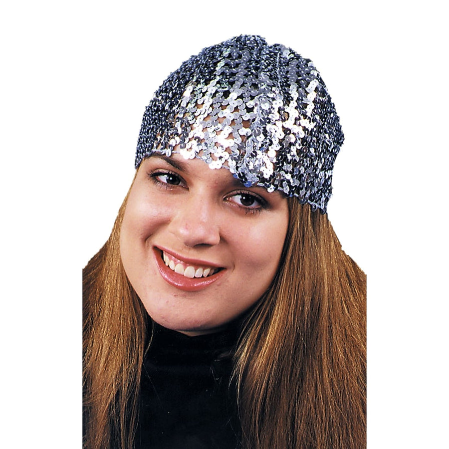 Cloche Hat Sequin Silver - 20s - 40s Costume Gangster & Flapper Costume