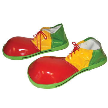 Clown Adult Red Yellow & Green Shoes - Clown & Mime Costume clown costumes