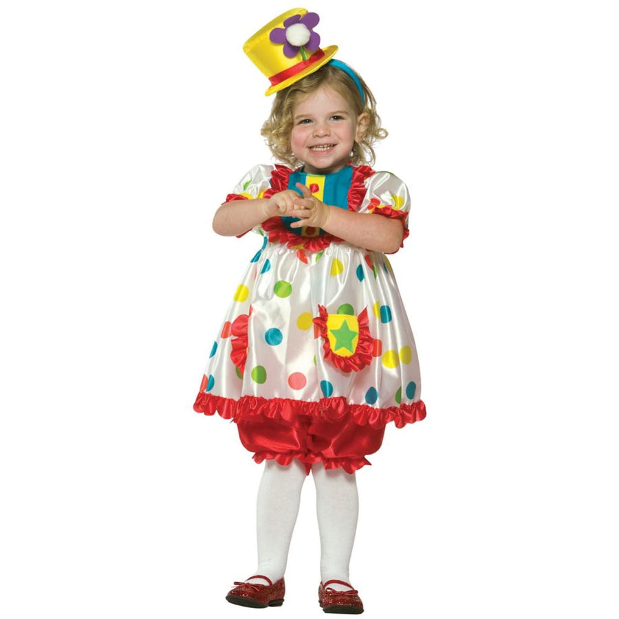 Clown Girl Toddler Costume 3T-4T - Clown & Mime Costume clown costumes Halloween