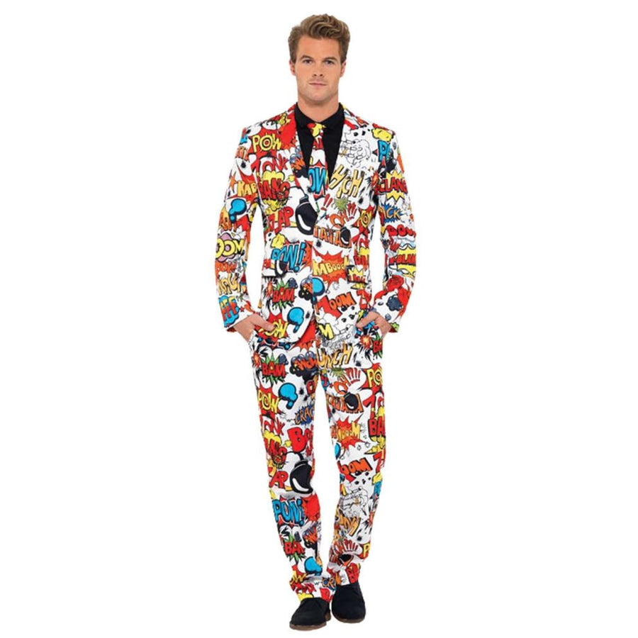 Comic Strip Suit Adult Costume Large - adult halloween costumes Game Costume