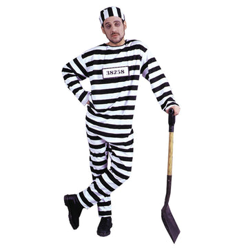 Convict Costume Xlg - adult halloween costumes Convict & Cop Costume halloween