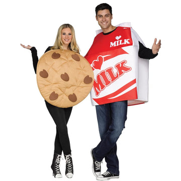 Cookies & Milk Adult Couples Costumes - adult halloween costumes Food & Drink