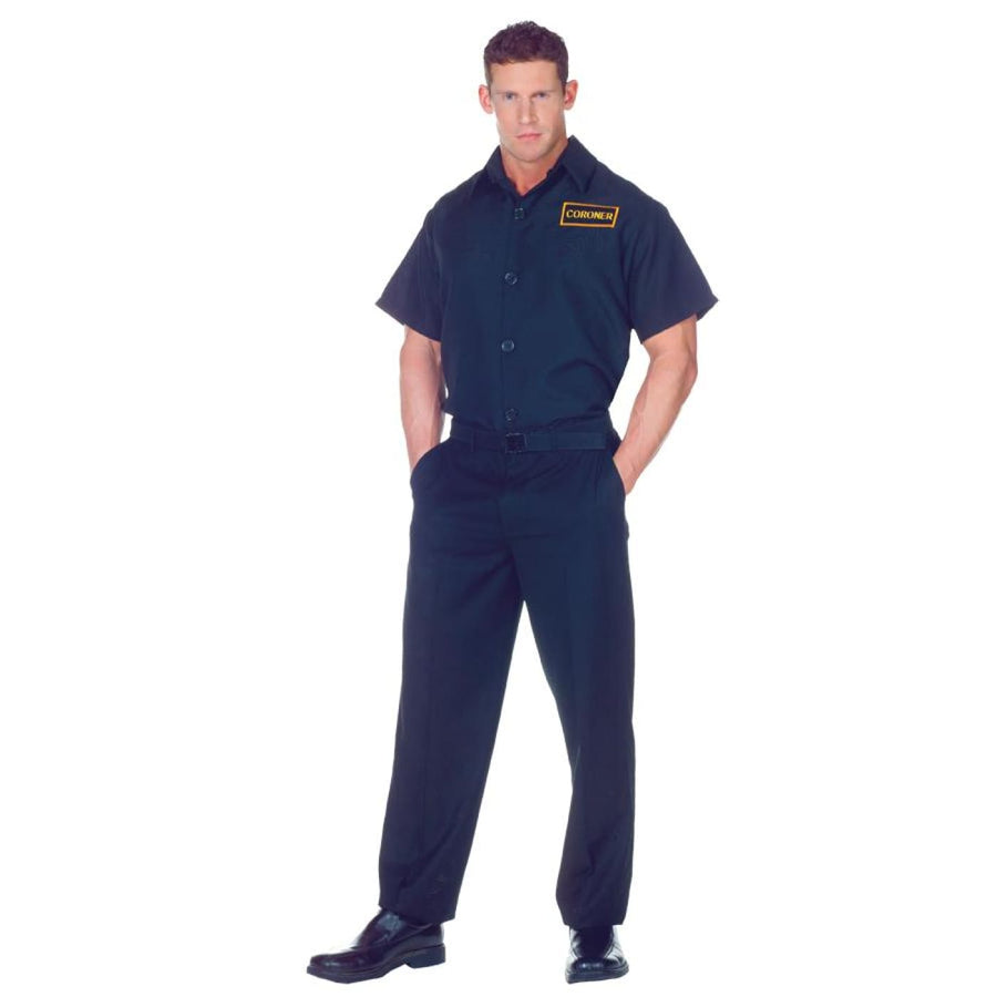 Coroner Shirt Adult Costume 42-44 - adult halloween costumes Convict & Cop