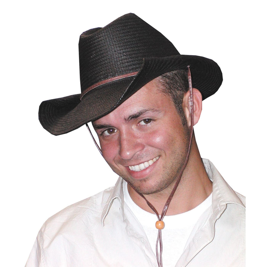 Cowboy Hat Rolled Black - Halloween costumes Hats Tiaras & Headgear