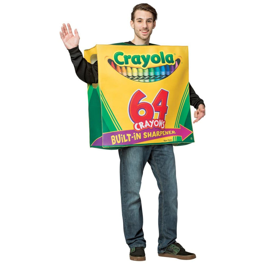 Crayola 64 Ct Box Tunic Adult Costume - adult halloween costumes Game Costume
