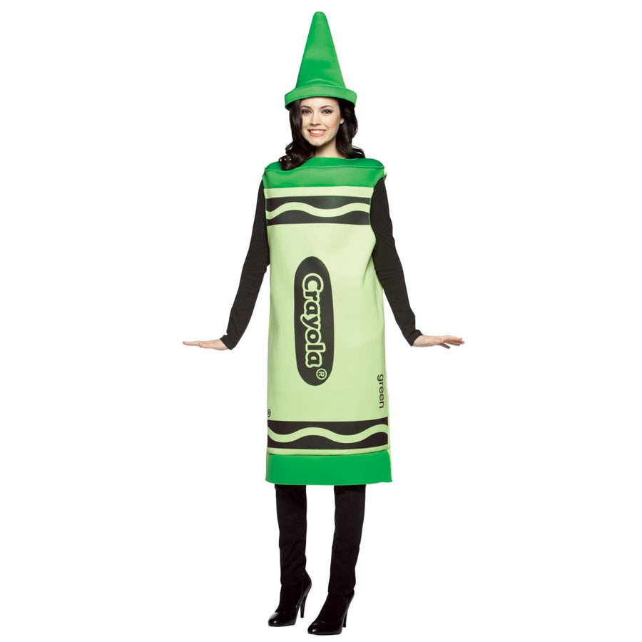 Crayola Cost Green Adult Costume Sm-Md - adult halloween costumes Crayola