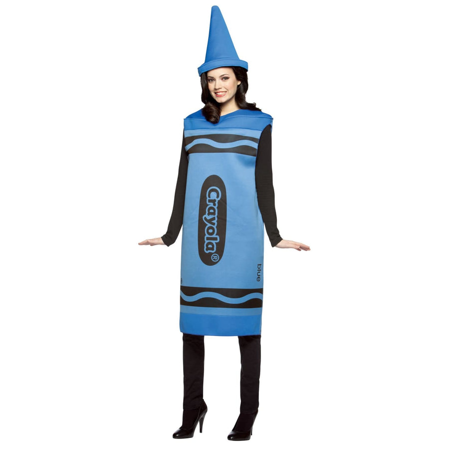 Crayola Costume Blue Adult Sm-Md - adult halloween costumes Crayola Halloween