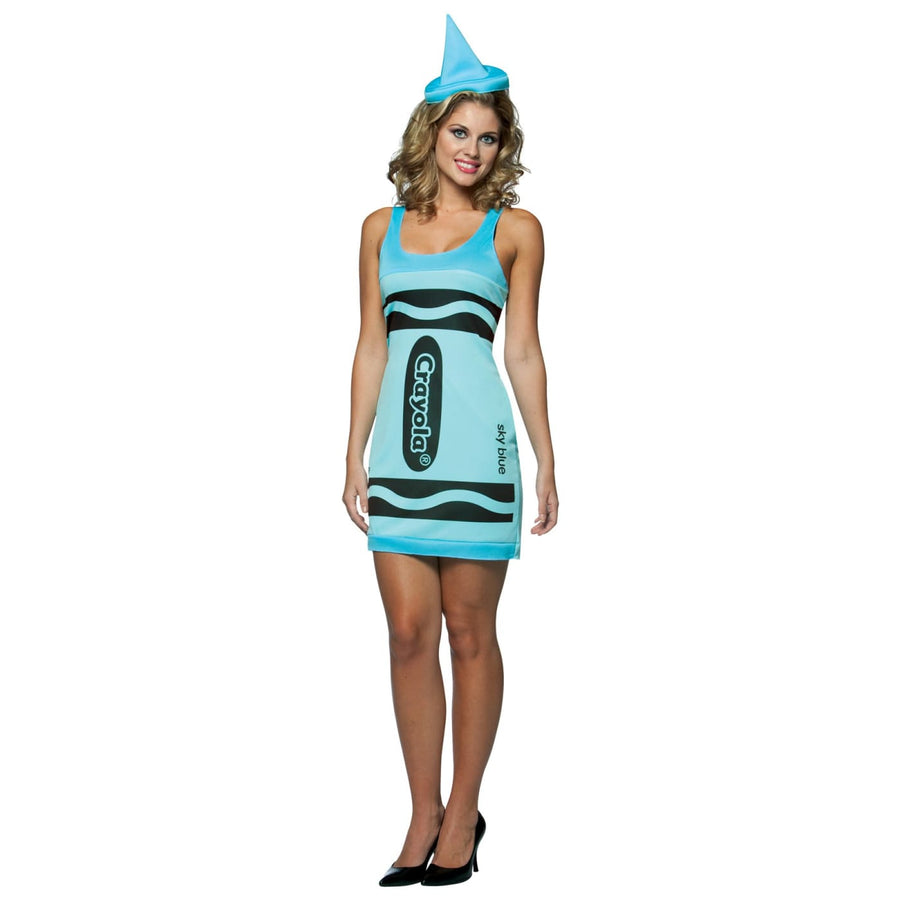 Crayola Tank Sky Blue Adult - adult halloween costumes female Halloween costumes