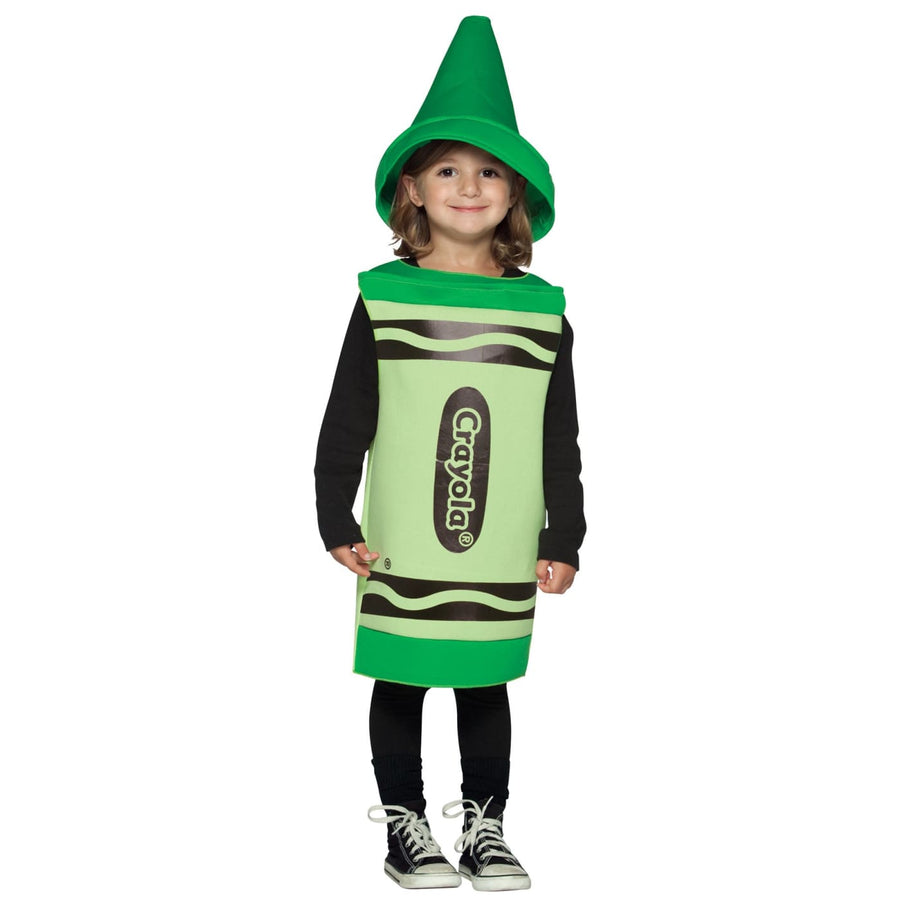 Crayola Toddler Costume Green 3T-4T - Crayola Halloween Costume Game Costume