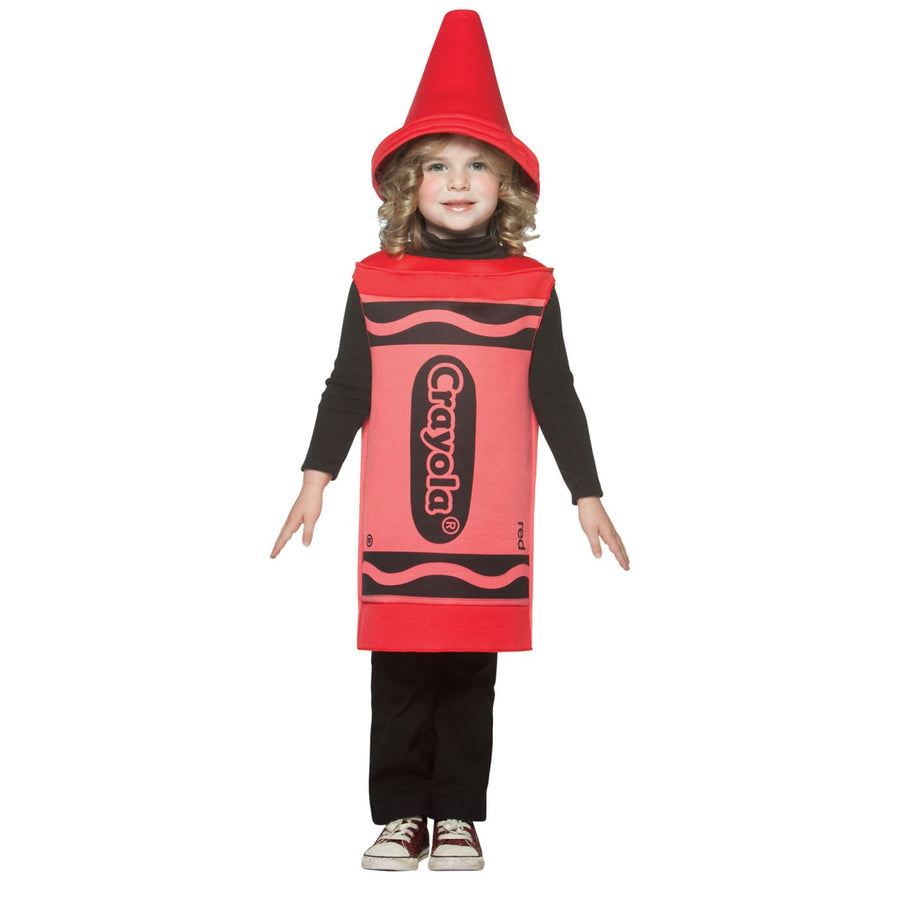 Crayola Toddler Costume Red 3T-4T - Crayola Halloween Costume Game Costume