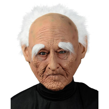 Creepy Old Man Mask With Hair - Costume Masks Halloween costumes Halloween Mask