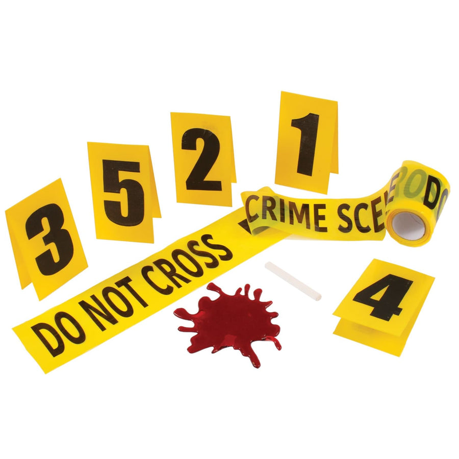 Crime Scene Kit With Blood Splat - Decorations & Props Halloween costumes