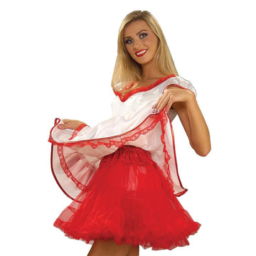 Crinoline Red Adult 19 Length - Halloween costumes Tights Socks & Underwear