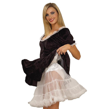 Crinoline White Adult 19 Length - Halloween costumes Tights Socks & Underwear