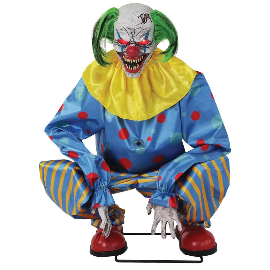 Crouching Clown Blue Animated - New Costume
