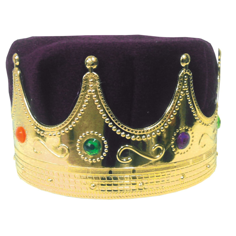 Crown Kings With Purple Turban - Halloween costumes Hats Tiaras & Headgear