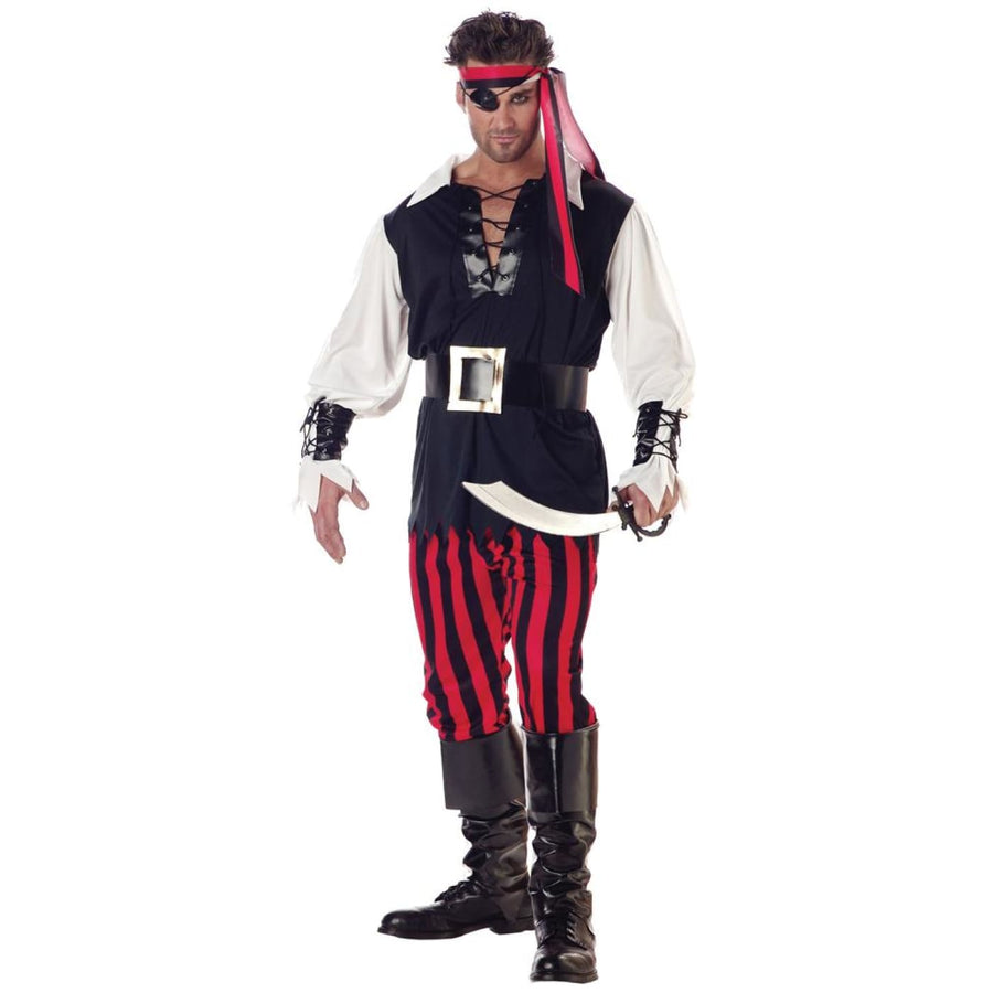 Cutthroat Pirate Adult Costume Large - adult halloween costumes halloween