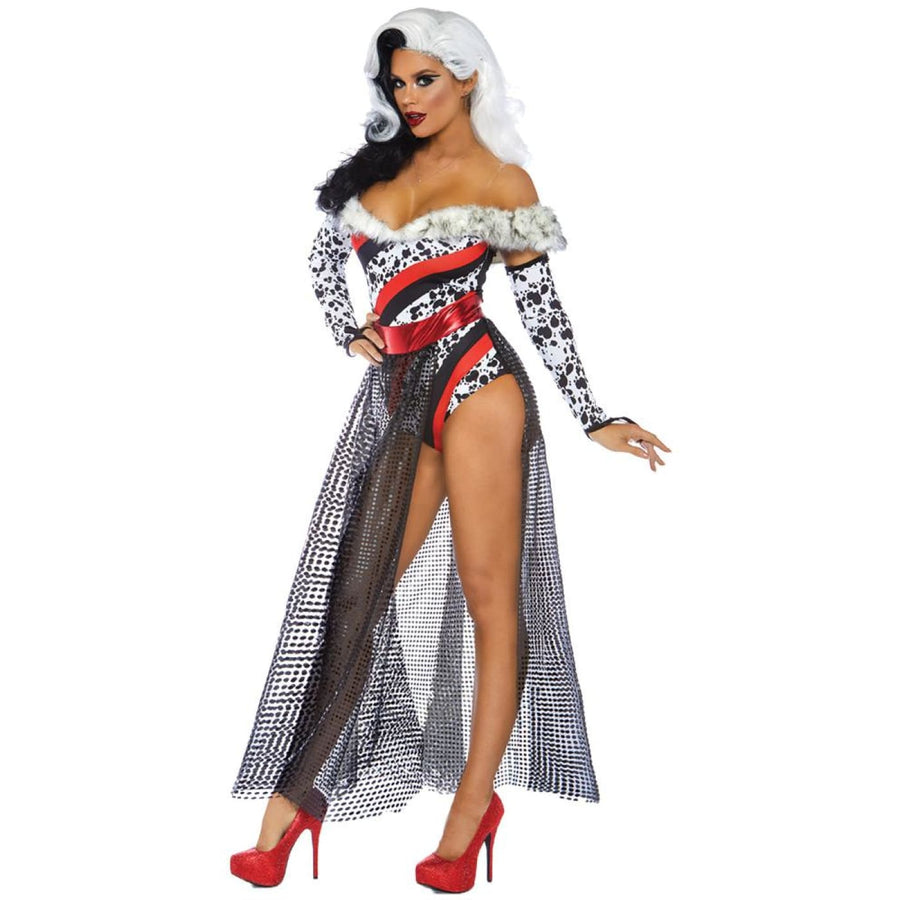 Dalmation Dame Womens Costume Sm - Dalmation Dame Womens Costume Sm Halloween