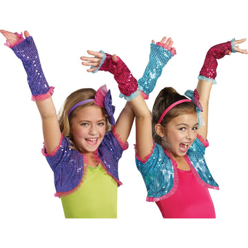 Dance Craze Arm Warmers Pink - Glasses Gloves & Neckwear Halloween costumes