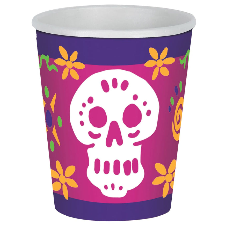 Day Of The Dead 9 Oz Cups -Set of 8 - Decorations & Props Halloween costumes