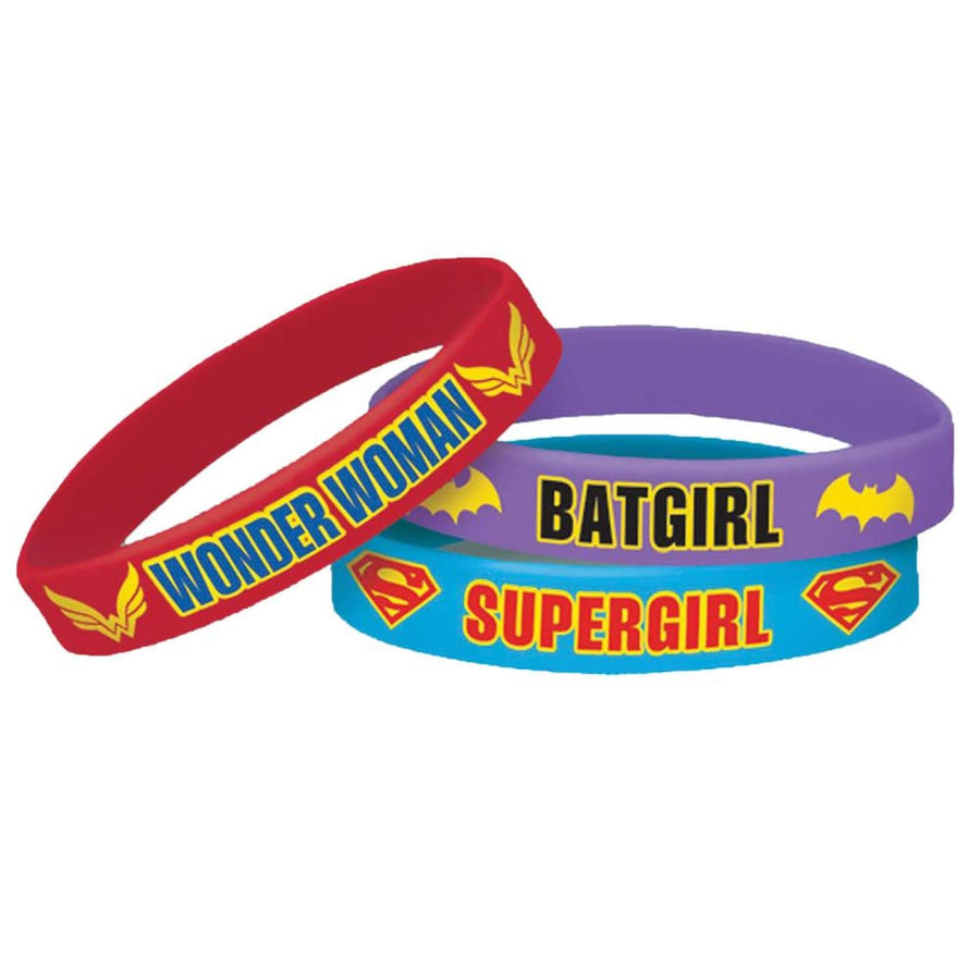 DC Superhero Girls Bracelets -Set of 6 - Birthday Party Decorations Birthday
