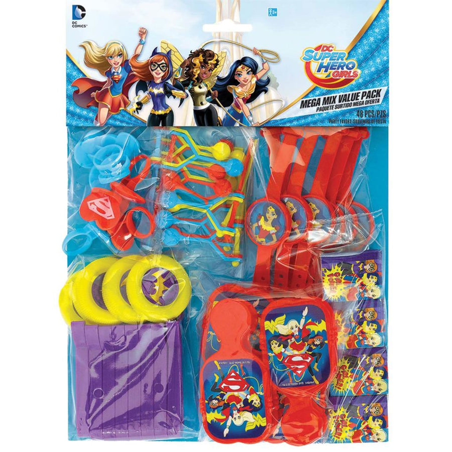 DC Superhero Girls Party Favors Pack - Birthday Party Decorations Birthday Party