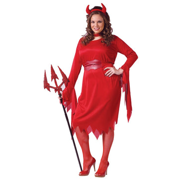 Delightful Devil Plus 16W-24W - adult halloween costumes Demon & Devil Costume