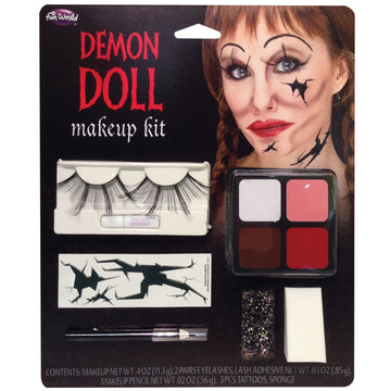 Demon Doll Face M-U Kit - Costume Makeup Demon & Devil Costume Demon Doll Face