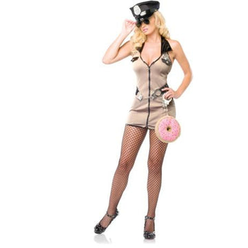 Deputy Md-Lg - adult halloween costumes Convict & Cop Costume female Halloween