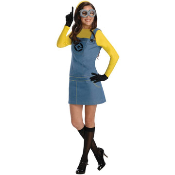 Despicable Me Lady Minion Adult Costume Large - adult halloween costumes