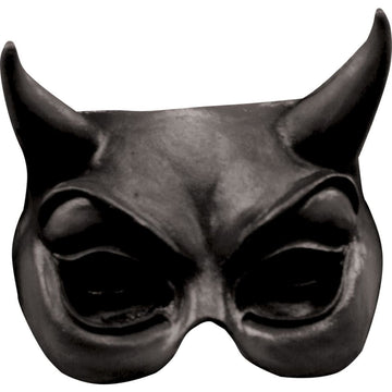 Devil Black Latex Half Costume Mask - Costume Masks Demon & Devil Costume