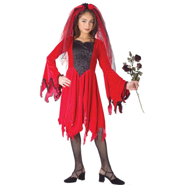 Devil Bride Red Lg - Devil Halloween Costume Girls Costumes girls Halloween
