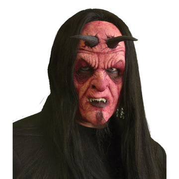 Devil Full Face Foam Prosthetic - Costume Makeup Demon & Devil Costume Halloween