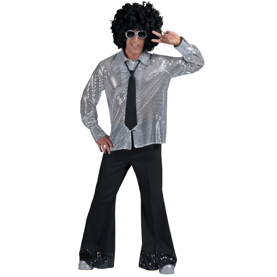 Disco Pants Mens Black Lg - Halloween costumes New Costume