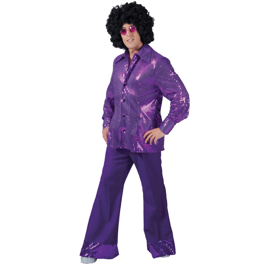 Disco Pants Mens Purple Lg - Halloween costumes New Costume