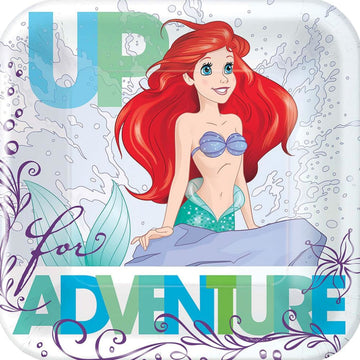 Disney Ariel 7 Inch Plates -Set of 8 - Birthday Party Decorations Birthday Party
